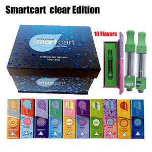 Wholesale New Smart Cart Clear Edition Vape Cartridges Packaging ml Ceramic Glass Thick Oil BUD Atomizers Cartridges Empty Vape Pen Magnetic Box