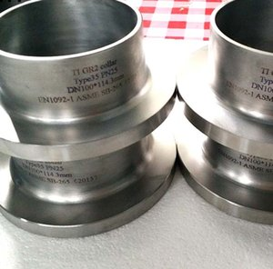factory supply titanium pipe fittings elbows caps cross stub ends ASME B16.9 Titanium Stub Ends For Sale