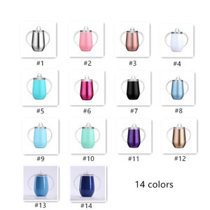 10oz Sippy Cups New 14 colors Double Wall Stainless Steel Vacuum Insulated Tumblers colorful Wine Coffee Beer Mugs in stock A07
