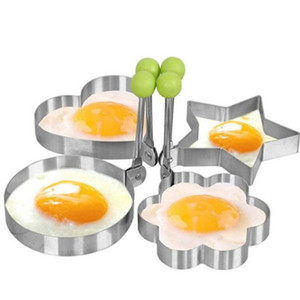 Wholesale Stainless Steel BBQ Fried Egg Shaper Pancake Mould Rings Heart Mold Kitchen Frying Egg Cooking Tools Kitchen Accessories Gadget