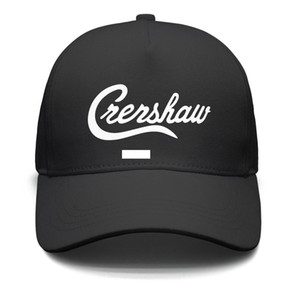 Wholesale Womens Mens Flat along Adjustable Nipsey Hussle Crenshaw White Punk Hip Hop Cotton Cricket Cap Bucket Sun Hats Cadet Army Caps Airy Mesh Hat