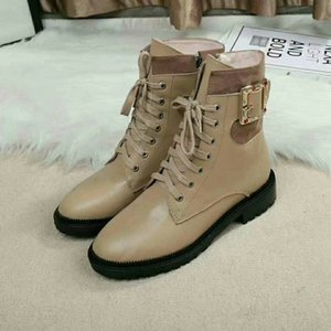 Brand Women cow leather Short Boots fashion Czech rhinestone Working Tooling Shoe Western Desert Boots Winter Snow Anke Martin Boots,35-42