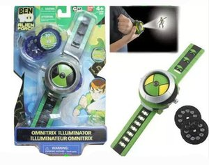 Wholesale Ben10 omnitrix watch Style Kids Projector Watch Japan Genuine Ben Watch Toy Projector Medium Support Drop kids christmas gift