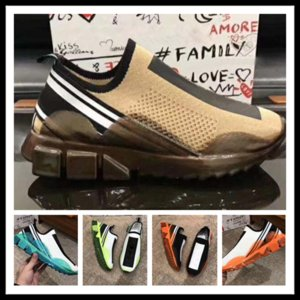 Wholesale Fashion Men casual shoes Mesh Fabric Stretch Jersey Sorrento Slip on Sneaker Fashion men Two tone Rubber Micro Sole Breathable Shoes2225