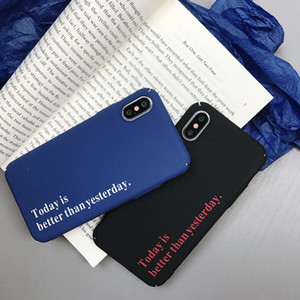 Wholesale English Phone Cases Environmentally Friendly PC For Iphone Xs Max Rock Sand Rough Feel Cell Phone Case For Iphone Plus