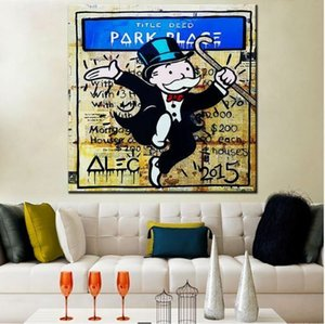Wholesale park oil for sale - Group buy Alec Monopoly Banksy street art Park Place Home Decor Handcrafts HD Print Oil Painting On Canvas Wall Art Canvas Pictures
