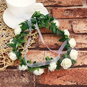 Wholesale Adult Kids Artificial Flower Garland Wreath Headdress Band Hair Hoop Headband Bride Princess Crown Birthday Wedding Decoration