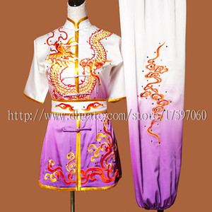 Wholesale Chinese Wushu uniform Kungfu clothes Martial arts suit taolu outfit Routine match garment for men women children boy girl kids adults