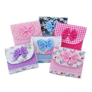 Wholesale Bowknot Portable Sanitary Napkins Pads Carrying Easy Bag Small Articles Gather Pouch Case Girl s Secret Bag