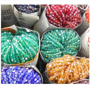 Wholesale 4mm AB colors Bicone Loose Spacer Beads Glass Crystal Faceted Rondelle Bead for Jewelry making