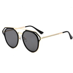 Wholesale 2018 Women Men Round Sunglasses Spectacles Male Female Metal Frame HD Lens Sun Glasses Rainbow Color Shade De Sol