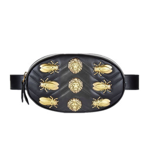 Wholesale Waist Belt Bag Women Rivets Lions Fanny Pack Bags Luxury Fashion Velvet Leather Handbag Red Black Beige Hight Quality