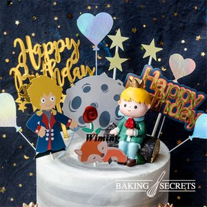 Wholesale party decoration cupcake toppers birthday gifts kids cake decorating supplies little prince toys for baby birthday cake topper