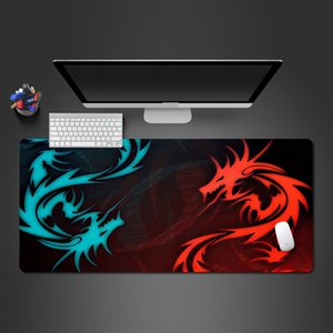 Wholesale Cool Blue And Red Dragon Mouse Pad High Quality Rubber Lock Gamer Computer Keyboard Mouse Mat PC Gaming Pad To Gamer