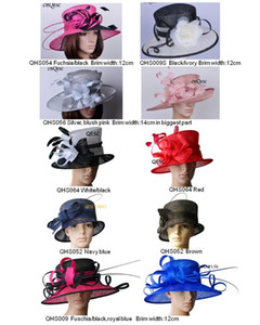 Wholesale elegant large brim sinamay hats for church,Kentucky Derby,Wedding,party,races,sell in mix styles mix colors