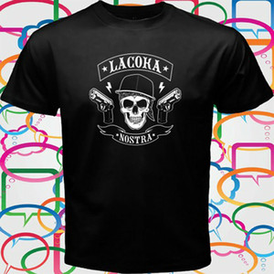 La Coka Nostra LCN American Hip Hop Men's Black T-Shirt Size S to 3XL