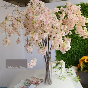 Wholesale Big136cm artificial cherry blossom vines oriental simulation home wedding garden party shop Decor luxurious cherry fake flores
