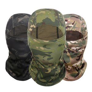 Wholesale Outdoor Multicam CP Camouflage Balaclava Full Face Mask Bicycle Hunting Cycling Army Bike Military Helmet Liner Tactical Paintball Hat