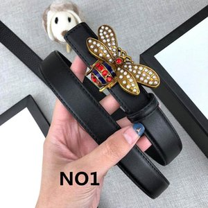 Wholesale Fashionable Designer Belts Luxury Belt Brand Belts Womens Little Bees Smooth Buckle Black Brown Optional Belt Width mm High Quality