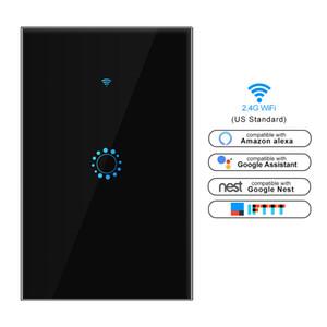 US AU standard WiFi touch switch tuya app smart wifi switch