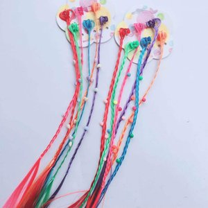 MISSKY 6pcs set Children Girl Women Hair Clips Colorful Pigtails Vivid Color Wig Braids Hair Clips Female Hair