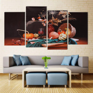 Wholesale 4x Wall Hanging Picture Vegetable Pumpkin Canvas Painting Art Decor No Frame Waterproof