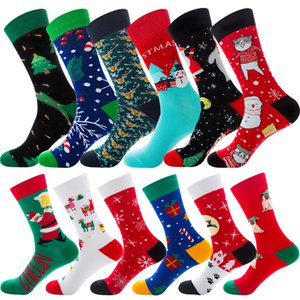 12 style Hot High Quality Christmas Tree Bear Snowflake Design Adult Socks stocking Cotton Unisex Lover sock Party Favor JY997