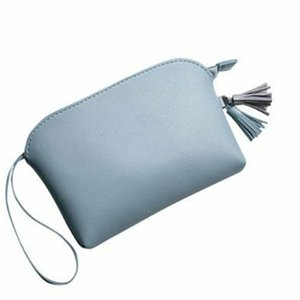 Wholesale Zipper Tassel Pendant Portable Wrist Strap Short Casual Gift Card Holder Travel Women Purse PU Leather Solid Mini Handbag