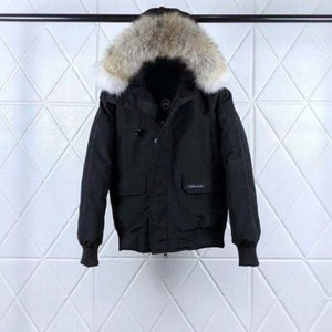 Wholesale Luxury Top Goose quality with real wolf fur down coatman New GNAEEWR Women Guse Chateau Black Navy Gray Down Jacket Winter Coat Parka