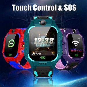 Wholesale Touch Control Smart Watch Kids SOS Voice Call WiFi LBS Location Tracker Children Smart Watch With Camera Flash Light mAh