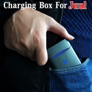 Wholesale 2019 Hottest mah Mini Charging Box Portable Charger Case Power Bank for Juul Pod Cartridge Vaporizer Kits Quality