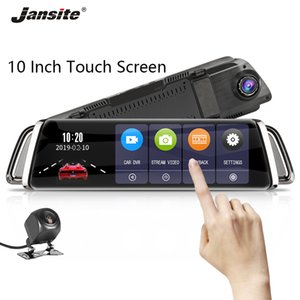 Wholesale Jansite quot P Car DVR Rear camera Touch Screen Dash cam Camera Super Night Vision video Recorders Rear view Dual lens Mirror