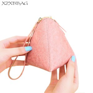 Wholesale XZXBBAG Female Cute Irregular Wrist Band Zipper Coin Purses Women Solid Color Mini Change Wallet Girls Card Pouch Key Package