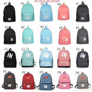 Wholesale Stock Pink Black Backpack Design Casual Backpacks Teenager Student Schoolbag Travel Bags Knapsack x11x14 Inch Fast Shipping
