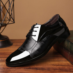 Wholesale Fashion Men s Dress Shoes Genuine Leather Modern Classic Lace Up Work Lined Perforated Oxfords Shoes Pointed Toe Formal Hot Sale