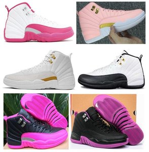 High Quality Women 12 12s GS Hyper Violet Youth Pink Valentines Day Basketball Shoes Girls The Master Taxi Rush Pink Sneakers With Box on Sale
