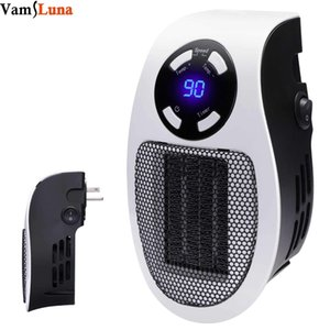 Wholesale Handy Wall Space Heater Plug in Ceramic Mini Heater Portable with Adjustable Temperature Timer and LED Display for Office T191012