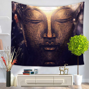 Figure Of Buddha Printed Tapestry Chic Bohemia Mandala Floral Carpet Wall Hanging Tapestry For Wall Decoration Fashion Blanket
