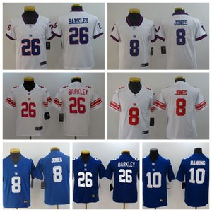 Wholesale 2020 New season NewYorkGiants Football Jerseys New Youth York Girls Giant Saquon Barkley Daniel Jones Eli Manning Kids Shirts