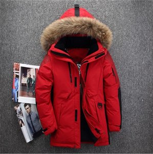 Mens Down Coats Polyester Winter Jackets Thick Casual Outerwear Windproof Handsome -20C Warm Regular Parkas And Coats Hooded #P03 on Sale
