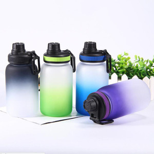 Wholesale women water cup for sale - Group buy 740ml gradient Plastic Sports Water Bottle Single Layer Plastic Waters Cup Plastic Drinking Bottle Man Women Colorful Straight Bottle
