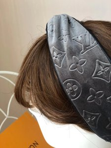 Women Velvet Elastic Turban Head Scarf Headband Echarpes Foulards Cachecol Best Quality Classic Winter Designers letter Headbands Hair Bands