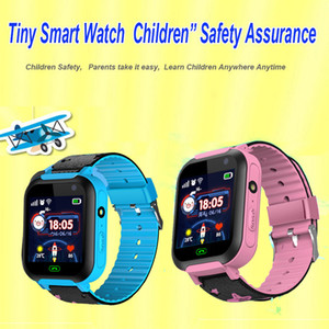 Wholesale children s smart baby fitness watch touch screen IPX7 SOS GSM LBS positioning remote camera DS37 child smart watch