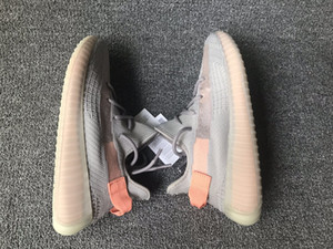 Wholesale 2019 V2 EG7492 ture form trfrm Running Shoes big size sneakers 36-48 hyperspace v2 clay grey orange v3 designer shoes with box