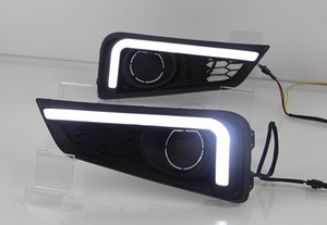 Wholesale 1Pair For Honda City DRL Daytime Running Lights fog lamp cover headlight V Daylight with Yellow signal