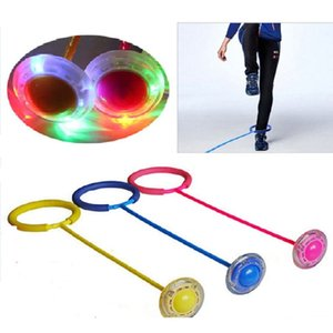Wholesale One Foot Jump Flashing Jump Ball Automatic Lighting Toys Children Adult Sport Gaming Fitness Bouncing Ball Christmas Gifts SH190913
