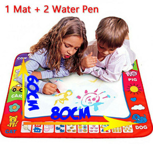 Wholesale 80 x cm Baby Kids Add Water with Magic Pen Doodle Painting Picture Water Drawing Play Mat in Drawing Toys Board Gift Christmas