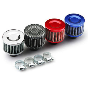 Wholesale Car Cold Air Intake Filters 12MM Clip-On Round Cone Auto Cold Air Mini Filters Air Intakes Parts HA91
