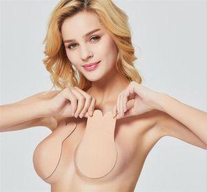 Breast Sexy Rabbit Ears Self Adhesive Bra Push Up Bra Silicone Nipple Cover Underwear Invisible Strapless Blackless Bra Epa