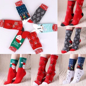 Wholesale New Stylish Unisex Mens Womens Christmas Socks Cartoon Cute Santa Snowman Snowflake Socks Winter Adult Hosiery Cotton Filler Hosiery